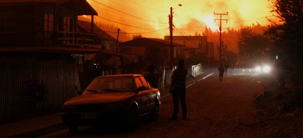 Chile sufre los peores incendios forestales de su historia